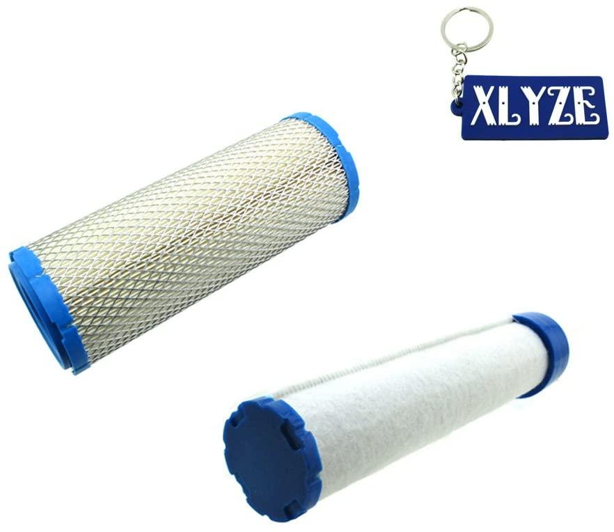 XLYZE Air Filter with PreFilter for Briggs & Stratton 540000 610000 Series Kawasaki FD750D FD791D FH601D-FH770D FH601V-FH721V FX651V-FX1000V Replaces Gravely 21536900 21537000