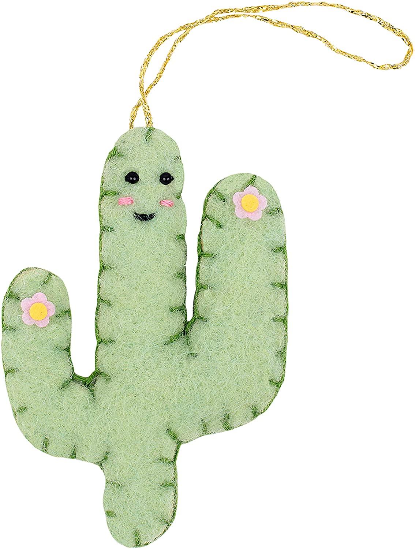 Fabric Editions Needle Creations Felt Ornament Kit-Cactus