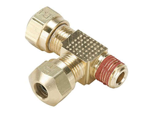Parker VS271NTA-4-2 Air Brake D.O.T. Compression Style Fitting for J844 Tubing-NTA, Tube to Pipe, Brass, Compression and Male Pipe Run Tee, 1/4