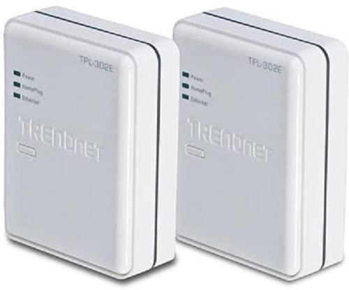 TRENDnet 200Mbps Powerline AV Fast Ethernet Adapter Kit TPL-302E2K (White)