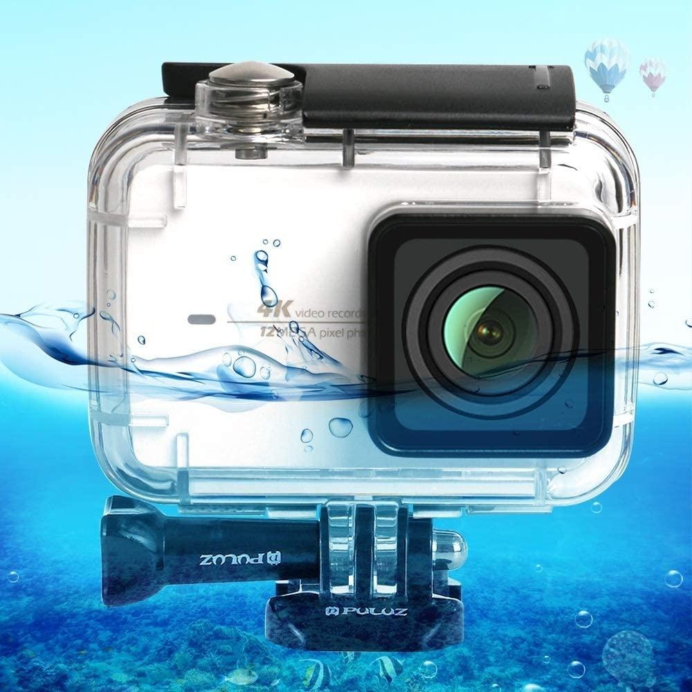 Waterproof Case, 45m Underwater Waterproof Housing Diving Case for Xiaomi Xiaoyi II 4K Action Camera, with Buckle Basic Mount & Screw