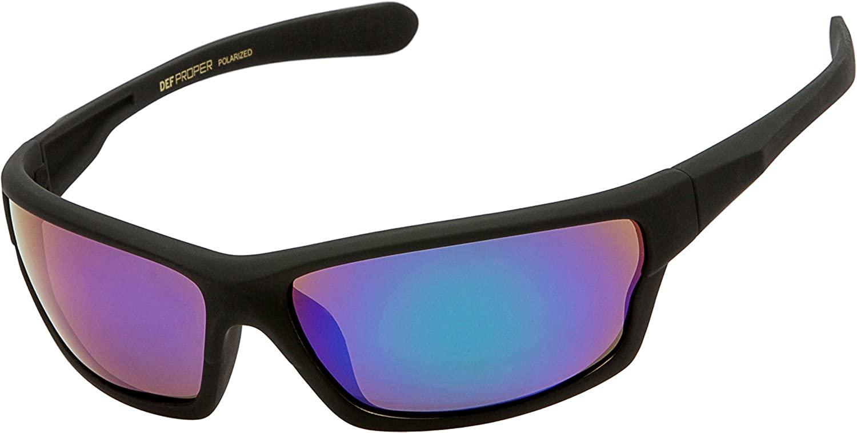 DEF Proper Polarized Wrap Around Sports Sunglasses