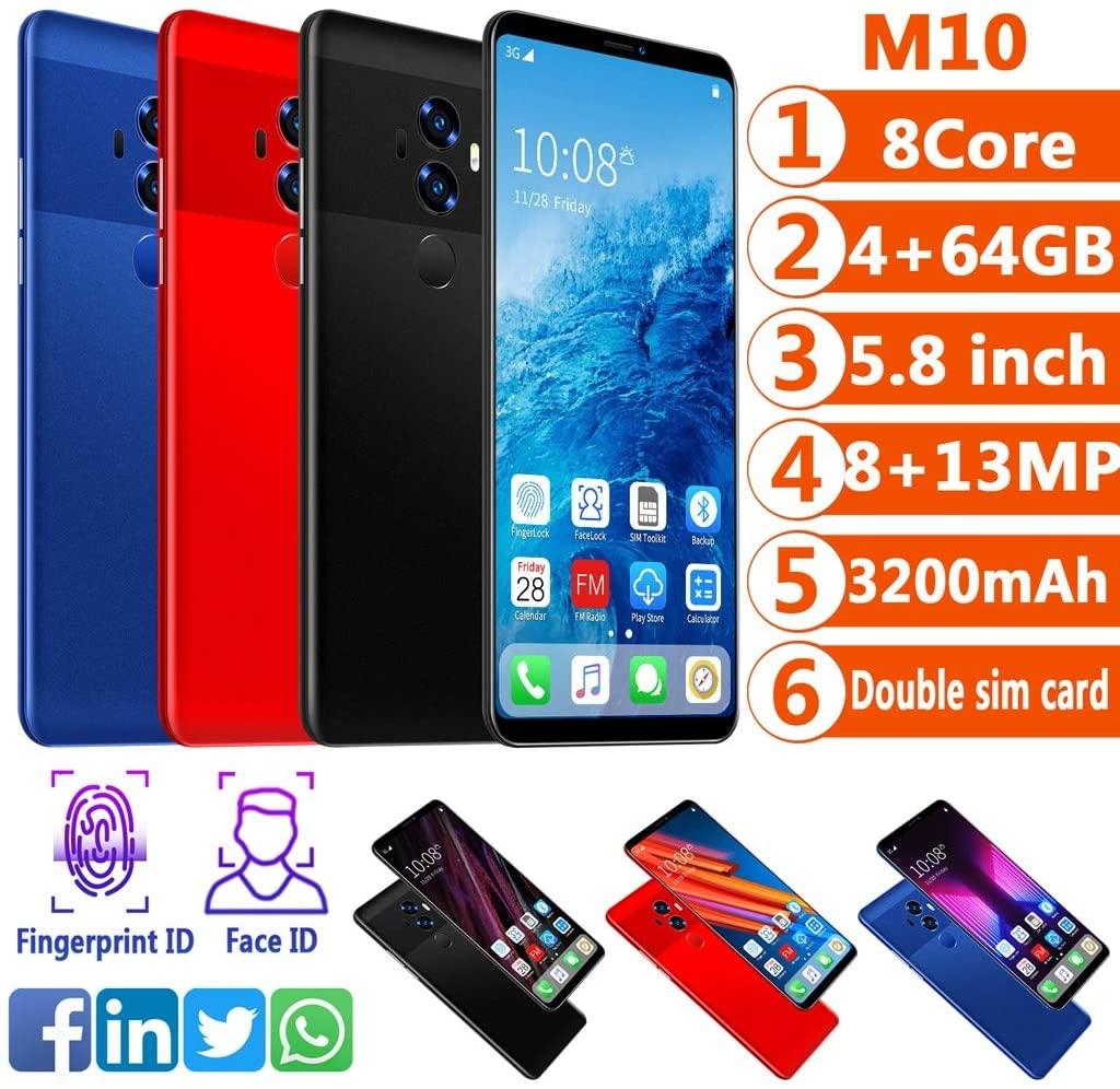 3200mAh Smartphone 5.8-inch Unicom 512 + 4 Processor Core Quad-core (Color : Black)