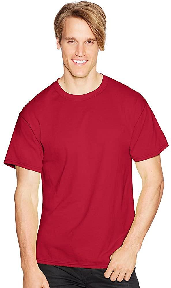 Hanes by ComfortBlend EcoSmart Crewneck Men's T-Shirt_Deep Red_S