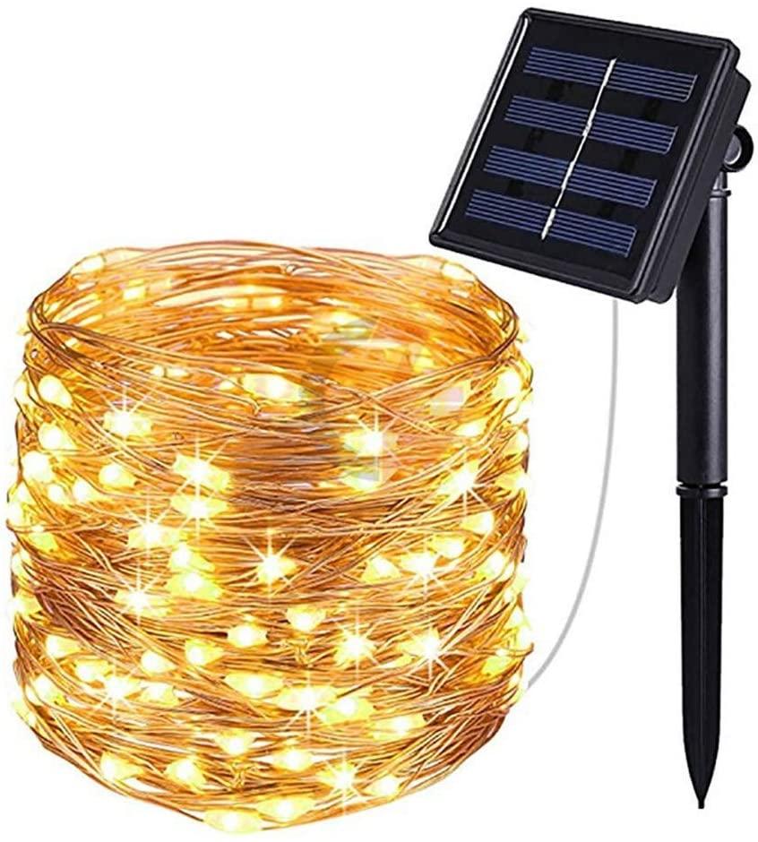 JELO Premium Led Strip Lights, Led Strip Lights with Remote 100 led Copper Wire Led Strip Lights for Bedroom Professional & Upgraded (Color : Warm White)