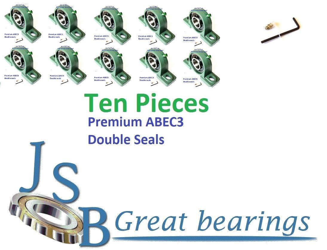(Qty.10) Premium UCP204-12 Double Seals ABEC3 Pillow Block Bearings bore 3/4 UCP204 12