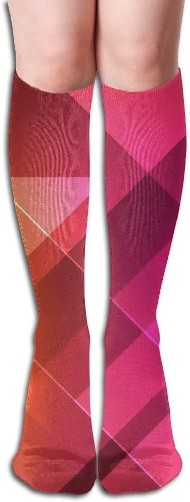 MASDUIH Red Square Knee High Crew Socks Knee High Stockings