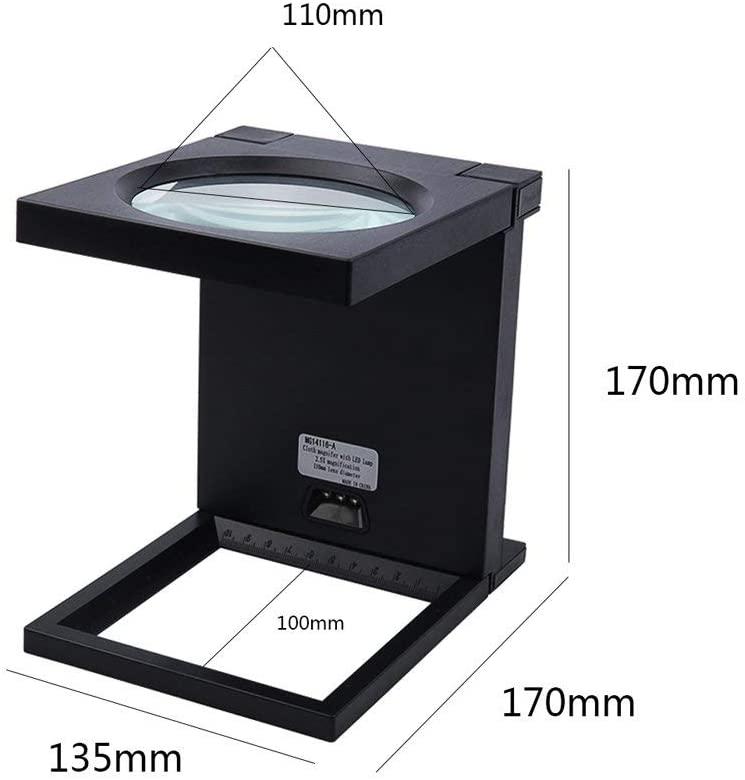 LXX Magnifying Glass,Multipurpose Portable Magnifier,Desktop Magnifier, Hd Foldable Led Light Magnifier for Desktop/Mobile Appliance Repair/Inspection