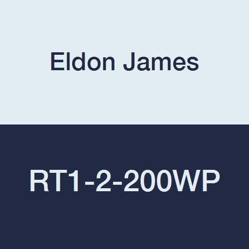 Eldon James RT1-2-200WP Polypropylene Reduction Tee, 1/16 x 1/8 Hose Barb, White (Pack of 10)