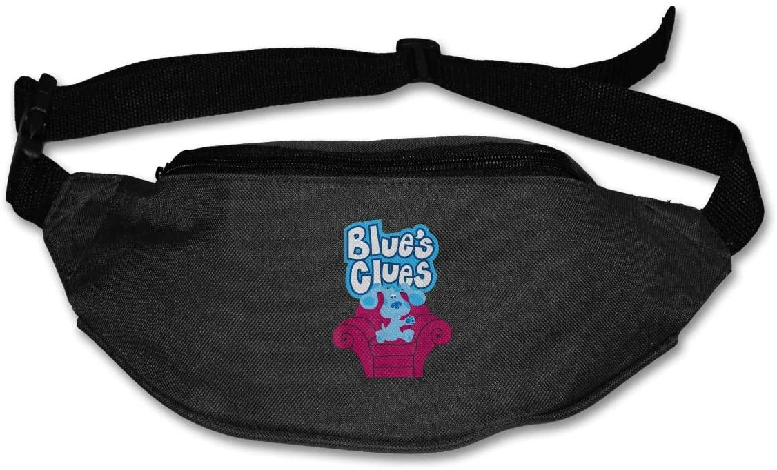 Sunlenvai Blue's Clues On Red Sofa Pack Runners Belt Fanny Pack Running Belt Waist Black