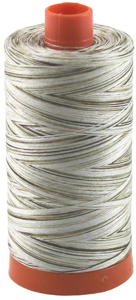 Aurifil Thread 4667 Nutty Nougat (Variegated Cream, Tan, Brown) Cotton Mako 50wt Large Spool 1300m