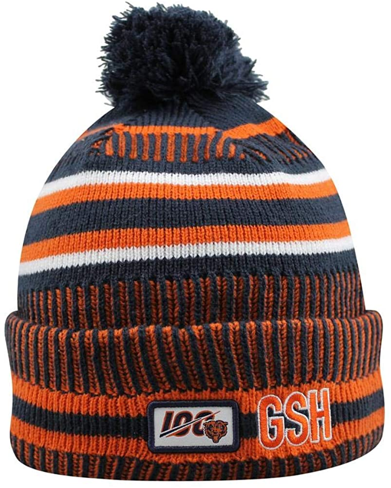 New Era Chicago Bears Sideline Classic Logo Cold Weather Sport Knit Beanie