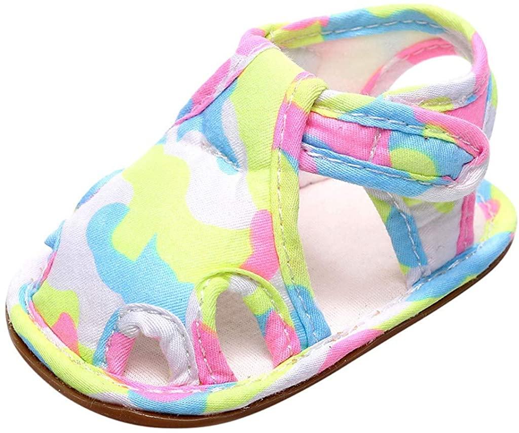 Infant Baby Girls Boys Closed Toe First Walking Sandals Summer Prewalker Shoes for 3-24 Months