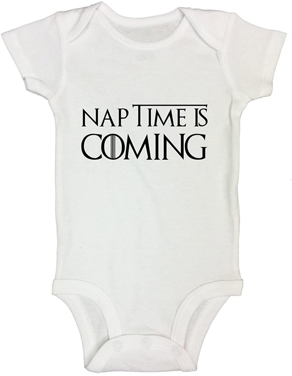 "Funny Kids Game of Thrones Onesie ""Naptime is Coming"" Newborn Shirt - Funny Threadz"