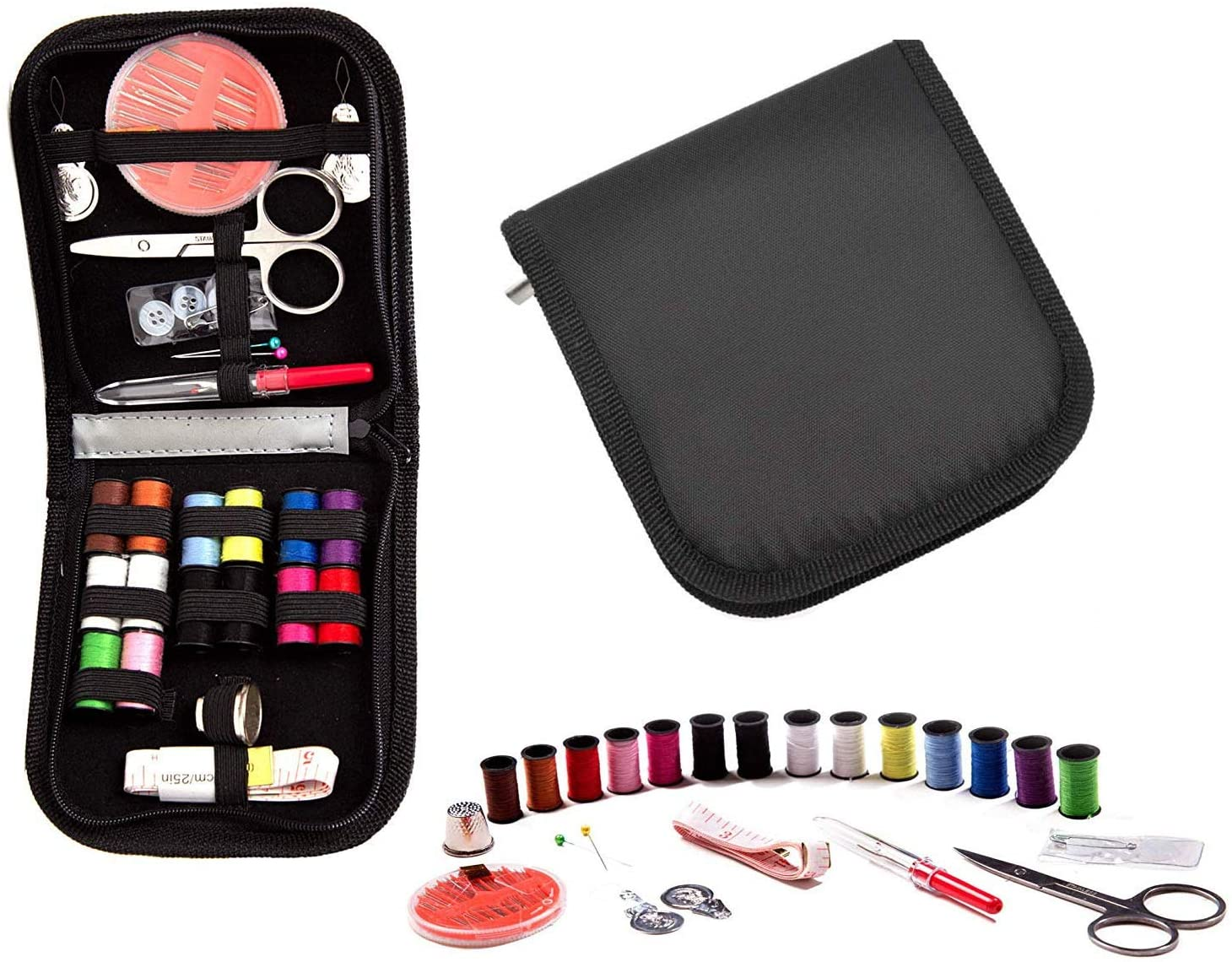 Sewing Kit,DIY Sewing Supplies Include Sewing Needles,Sewing Thread,Scissors,Tape Measure etc,Fit for Adults,Beginners,Travel and Home