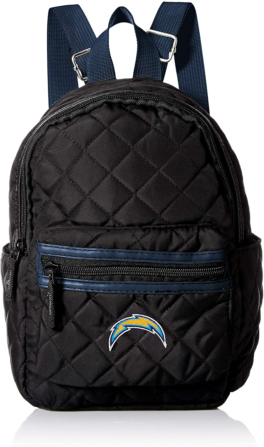 FOCO NFL WomensBlack Quilted Mini Backpack