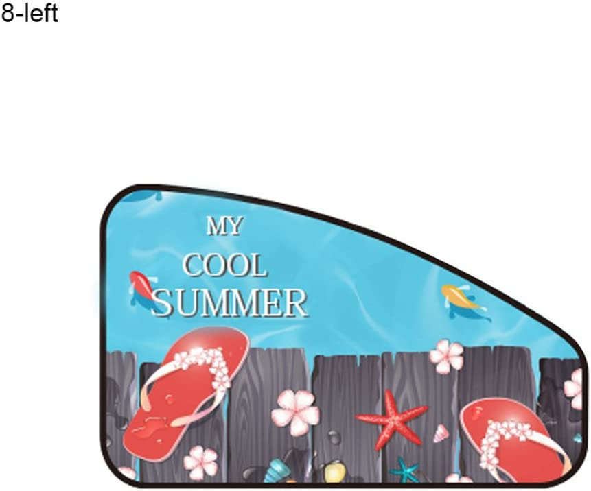 ekqw015l [Car Curtain Cartoon Sun-Protect Car Side Back Window Sunshade Summer Sun Protection Magnetic Shield Curtain Car Curtains Baby Sunshade Cover for Universal Car Van SUV 8# Right#