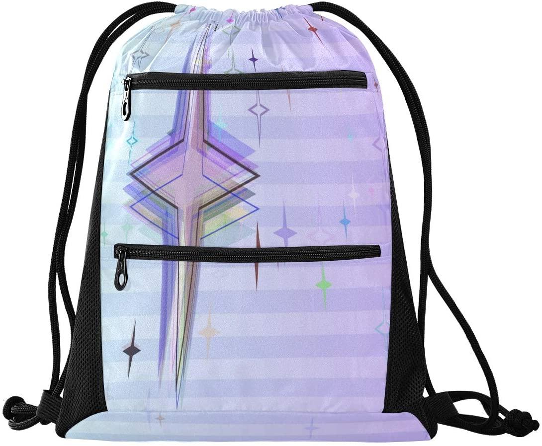 N /A Drawstring Backpack Bag Stylish Mexican Skeleton Woman Gym Bag, Draw String Bags, Cinch Sack