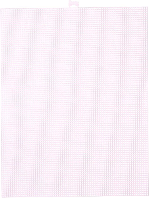 Mesh Plastic Canvas - Pink - 10.5 x 13.5