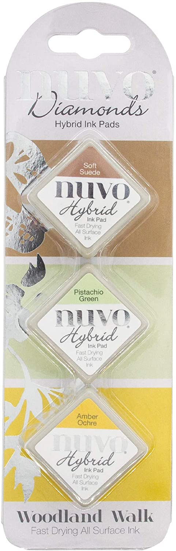 Tonic Studios Nuvo Diamond Hybrid Ink Pads 3/Pkg-Woodland Walk