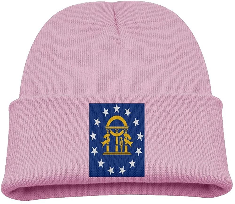 ZWZ Georgia Flag Kid's Hats Winter Funny Soft Knit Beanie Cap Children Unisex