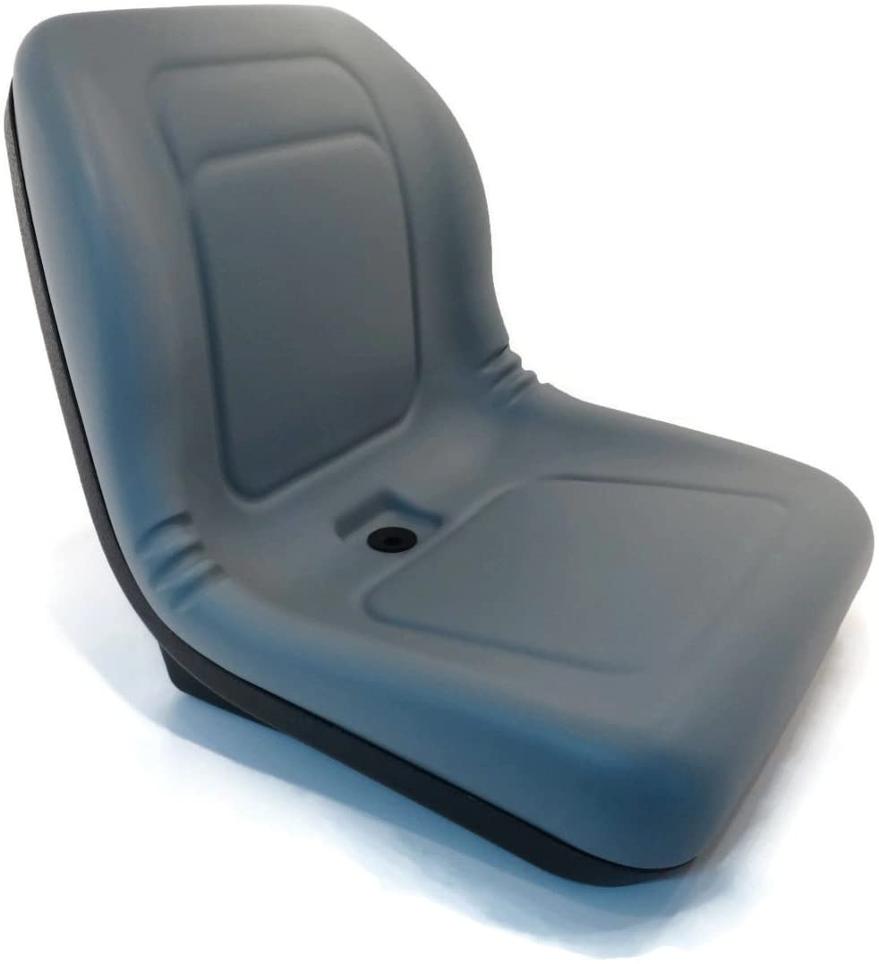 A&I Products New Grey HIGH Back SEAT for John Deere Skid Steer Loader 70 125 240 7775 8875 by The ROP Shop