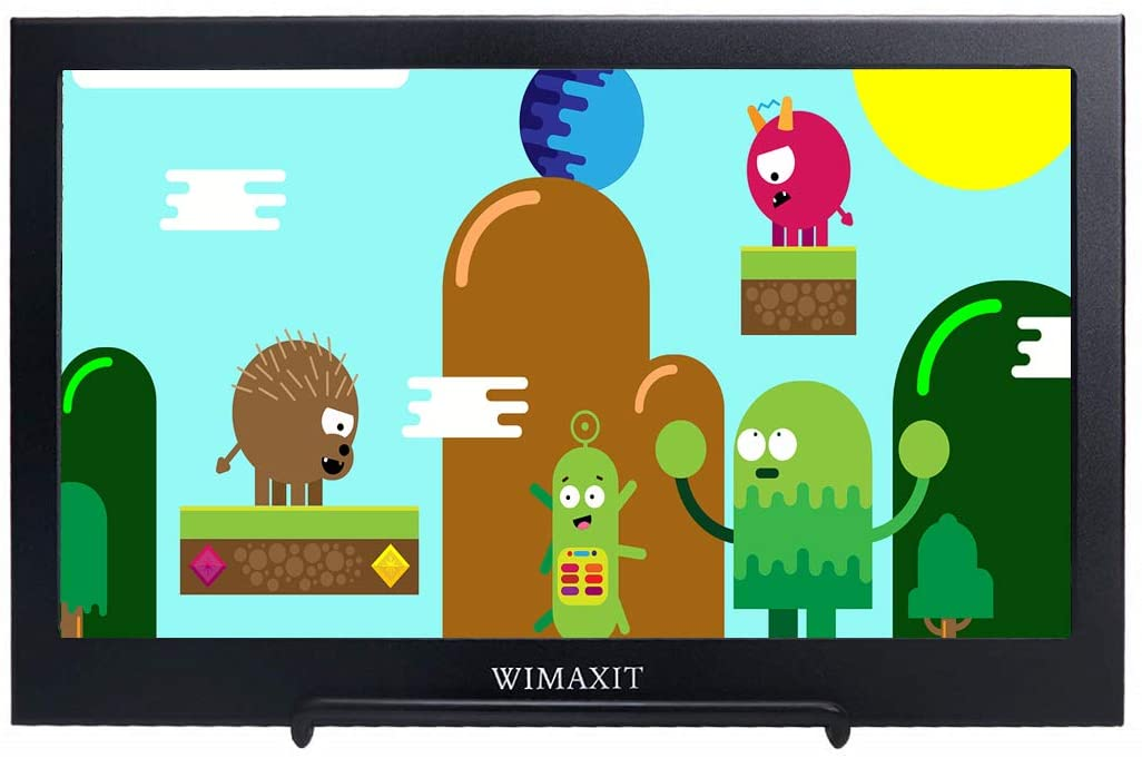 WIMAXIT 11.6 Inch Portable Monitor, Full HD 1080P 16:9 Display, HDMI Ultra-Slim Dual Speakers Screen USB Powered for PS3/PS4/X Box/Raspberry PI/Switch/PC