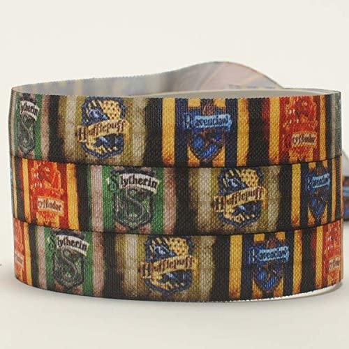 10yards 5/8 16mm harry potter ribbon printed FOE elastic Ribbon