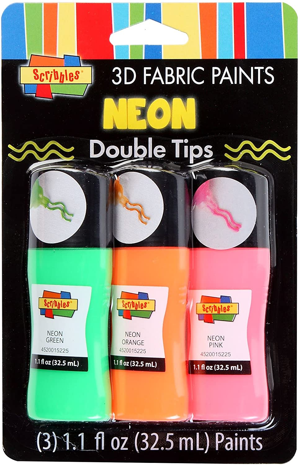 Scribbles Double Paint Tips, Neon