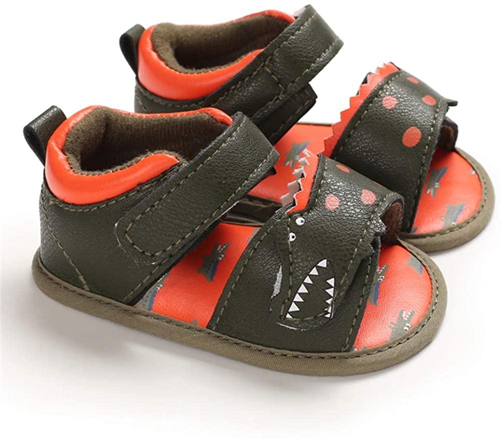 LAFEGEN Baby Boys Girls Summer Sandals 2 Straps Anti Slip Soft Sole Beach Infant Shoes Toddler First Walker Newborn Crib Shoes(3-18Months) 6-12 Months Infant, 01 Navy