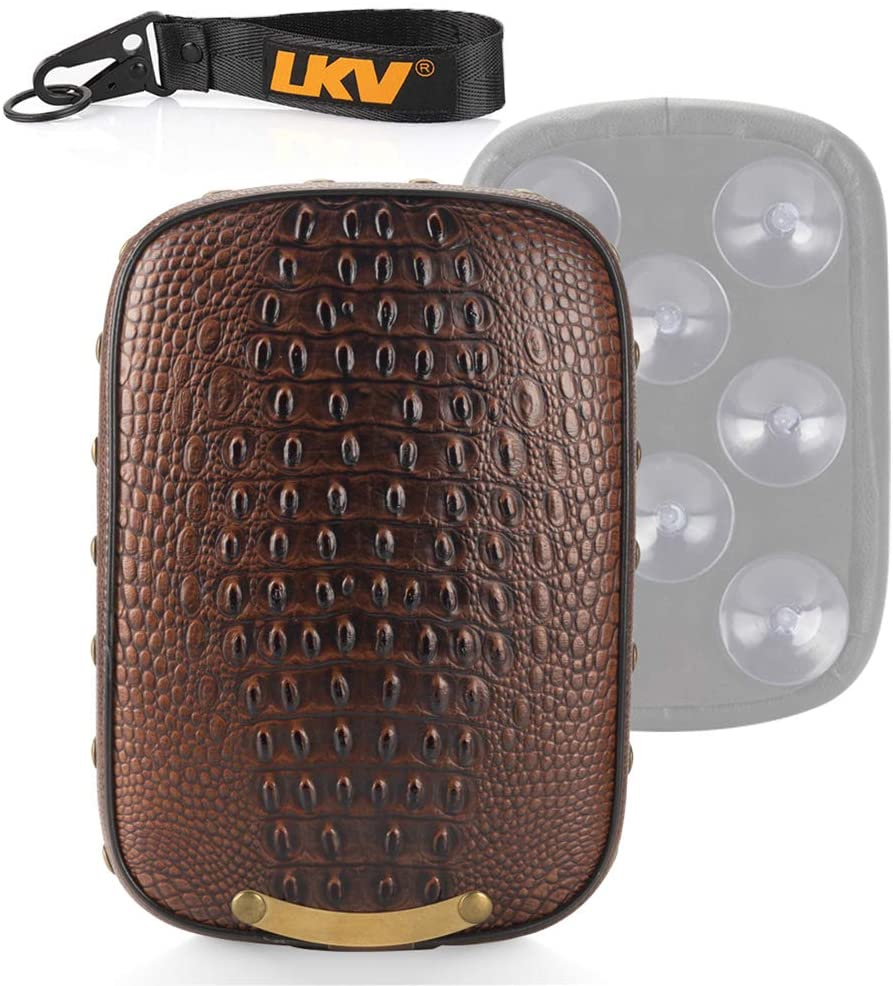 LKV 10.63 ″ Motorcycle Pillion Passenger Pad Seat Rear Cushion with 8 Suction Cups for Harley Sportster 883 1200 Dyna Custom Chopper