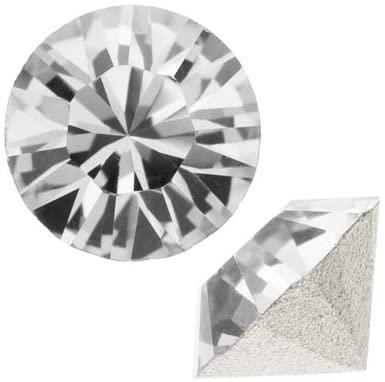 SWAROVSKI Crystal, 1088 Xirius Round Stone Chatons ss24, 12 Pieces, Crystal F