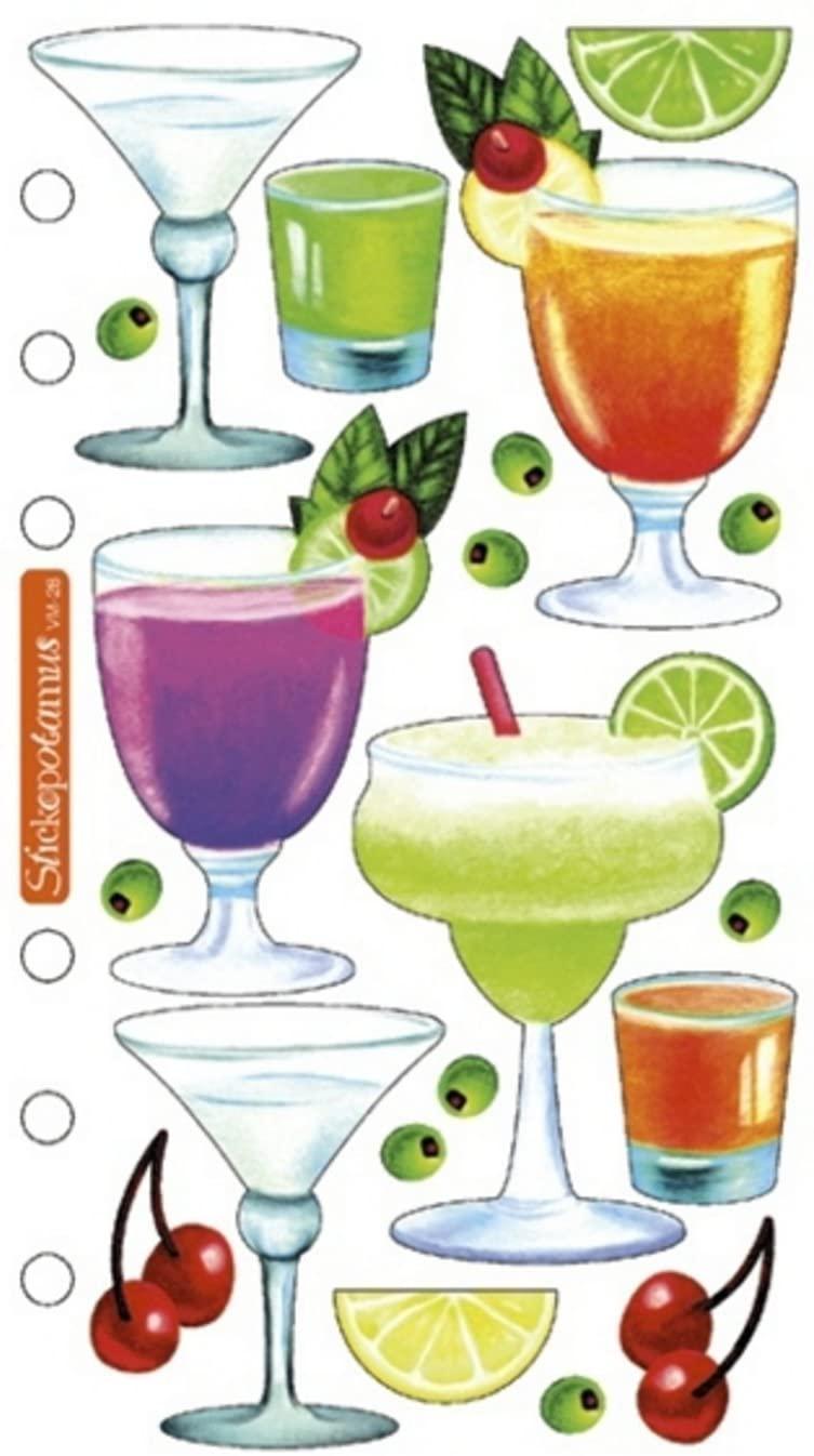 Sticko Vellum Stickers - Drinks