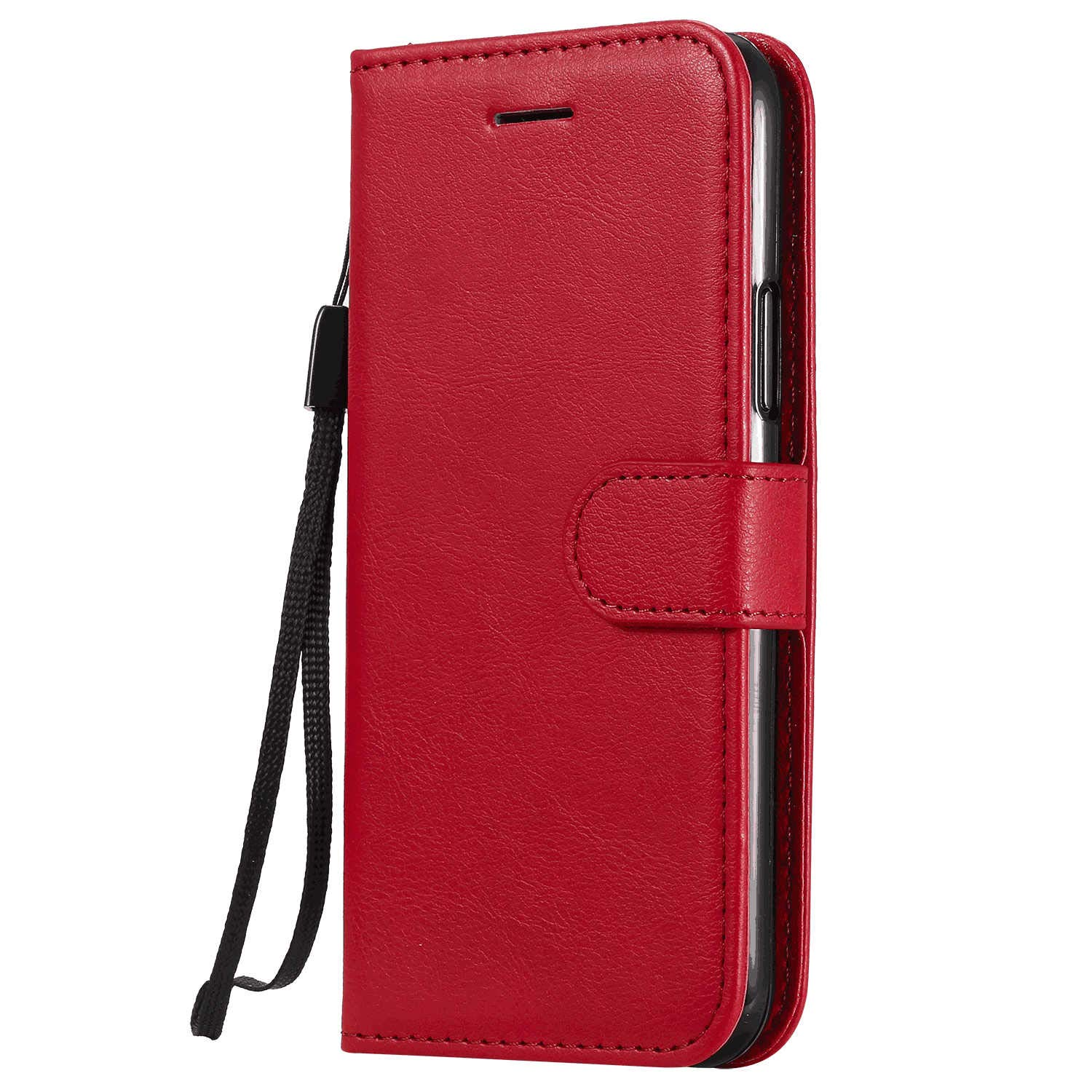 Leather Cover Compatible with iPhone 11 Pro Max, red Wallet Case for iPhone 11 Pro Max