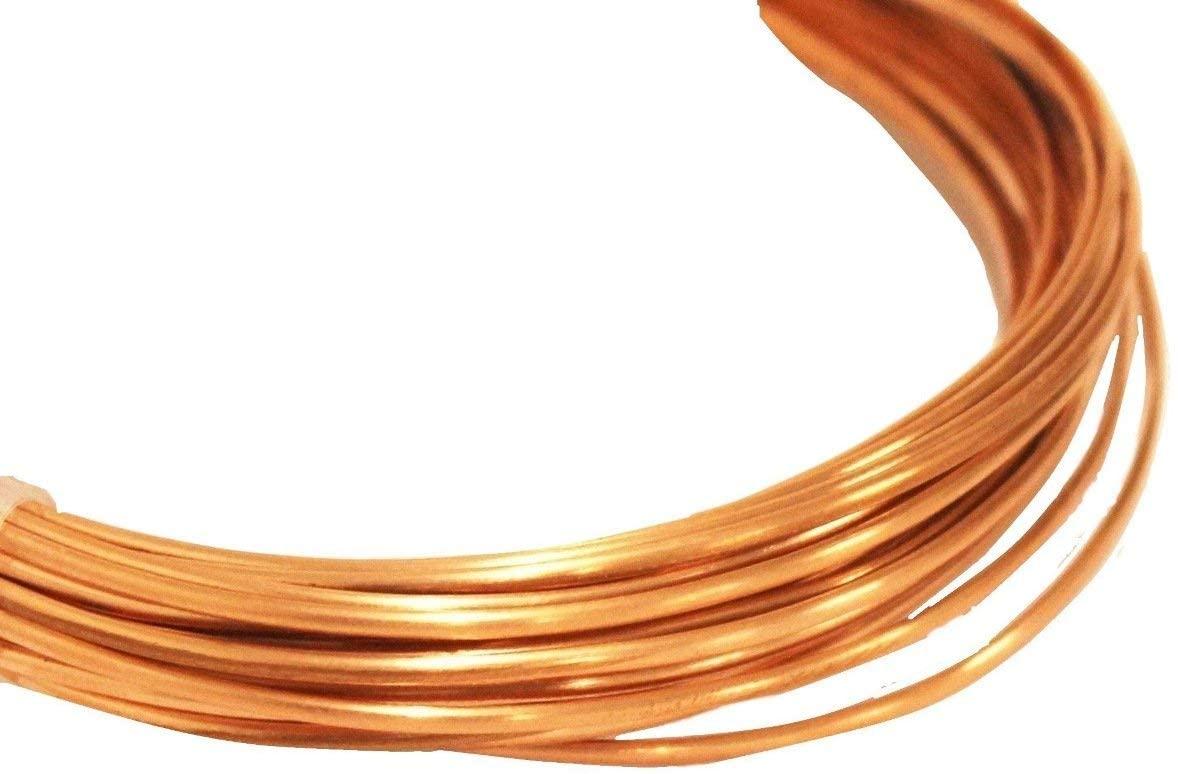 12 Ga Half Round Copper Wire 7 Ft (Dead Soft) Coil