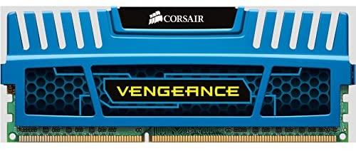 Corsair CMZ4GX3M1A1600C9B Vengeance Blue 4GB (1x4GB) DDR3 1600 MHz (PC3 12800) Desktop Memory 1.5V