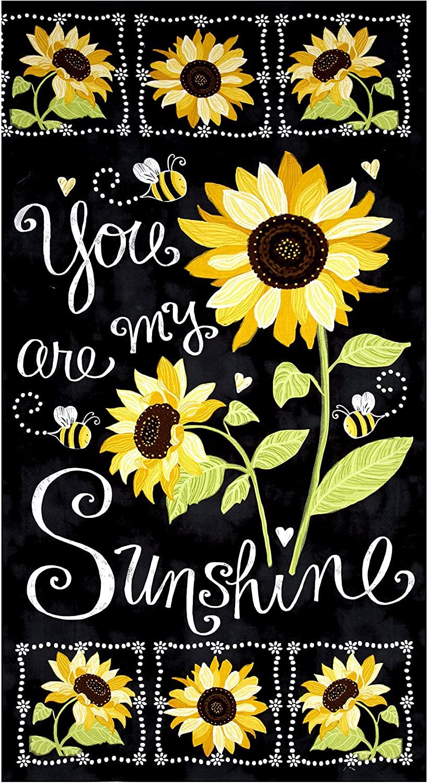 Timeless Treasures Sunshine Sunflower Chalkboard 23.5