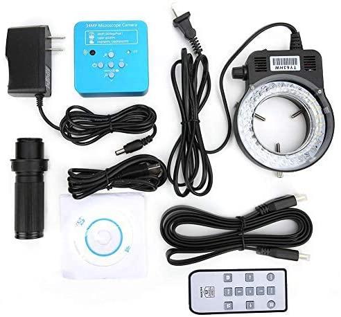 Nobrand 34MP USB HDMI Industrial Microscope kit High Definition C-Mount Microscope Lenses USB Microscope Photo adapters 100-240V (US Plug 100-240V)