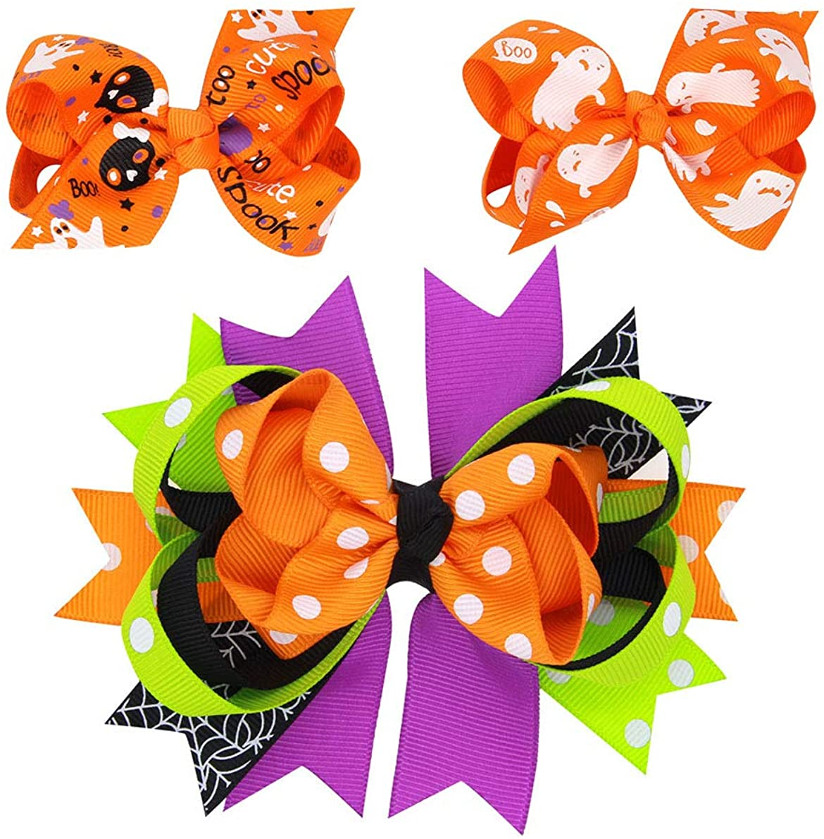 Baby Halloween HairPin HairClips with Bowknot Hair bow Kids Girl Hairgrip JHH23