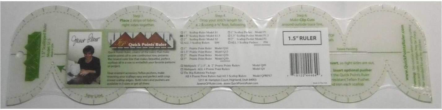 Quick Points Ruler 1.5-inch Scallop Ruler