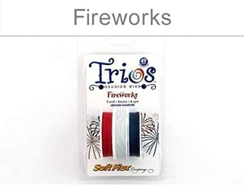 Soft Flex, Beading Wire, Trios .019 Inch Diameter Fireworks - 3 Spools (11318)/1