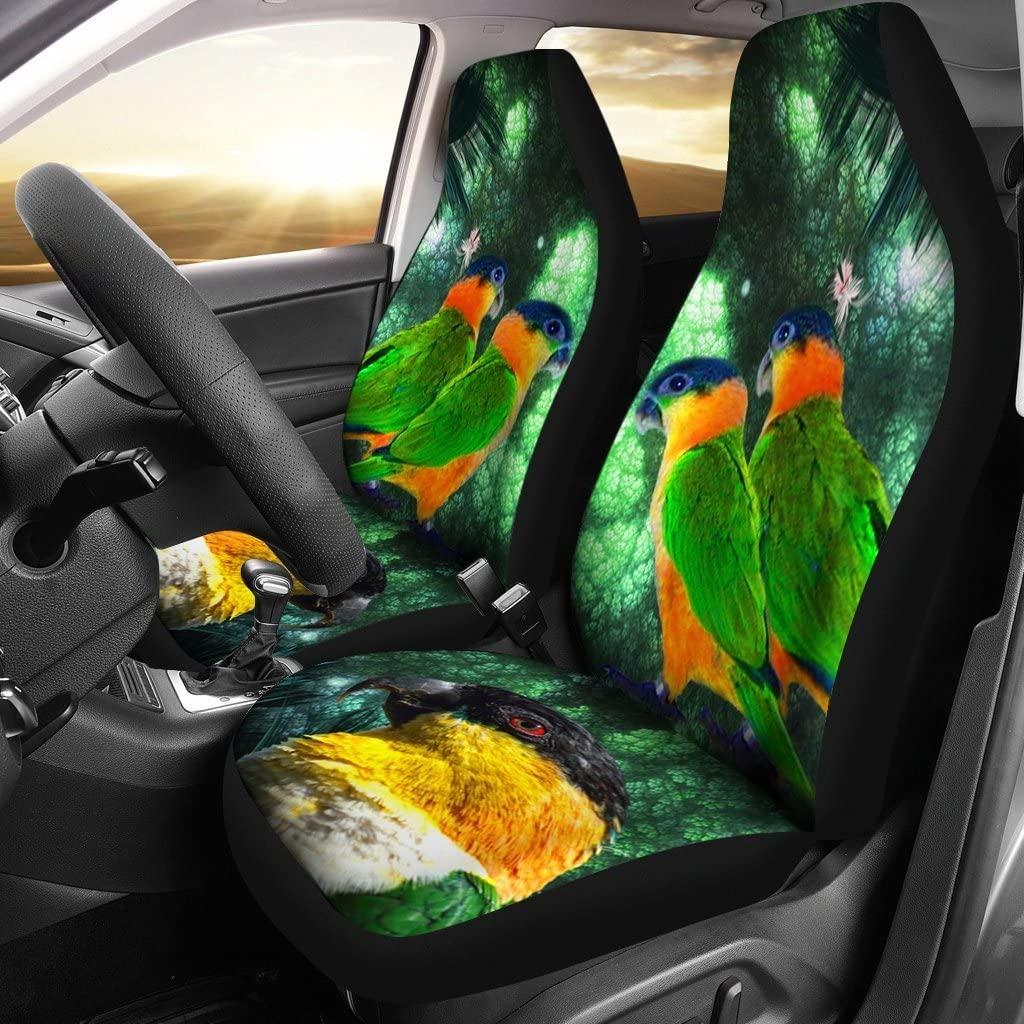Caique Parrot Print Car Seat Covers