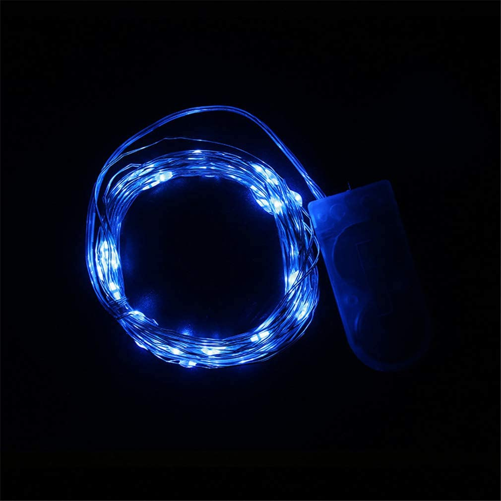 LED String Fairy Light Battery Operated Decorative LED Lights Street Party New Year Decoration blue 3m 30led