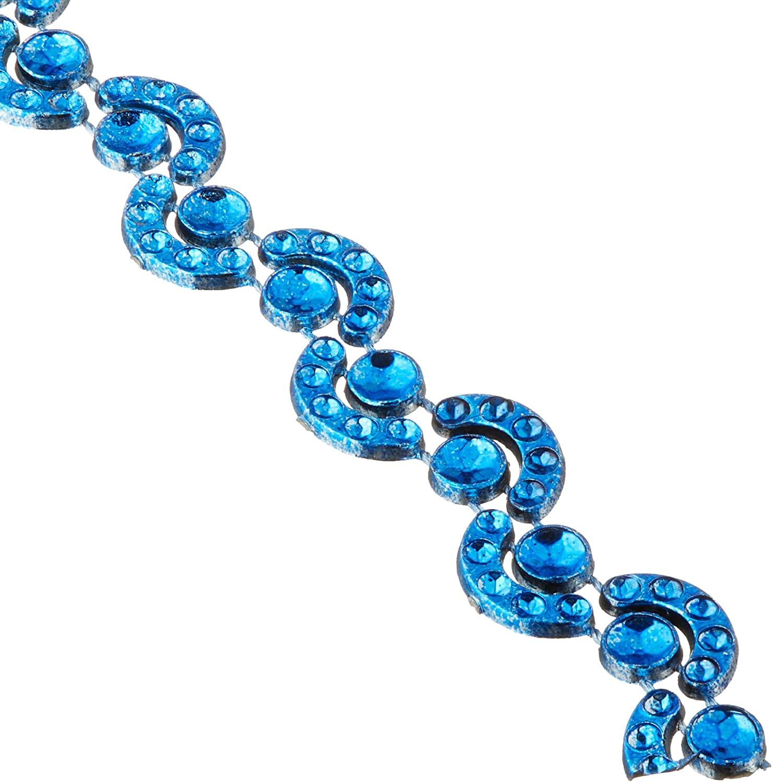 Royal Blue Wave Rhinestone Trim Strand, 7mm, 10-Yard