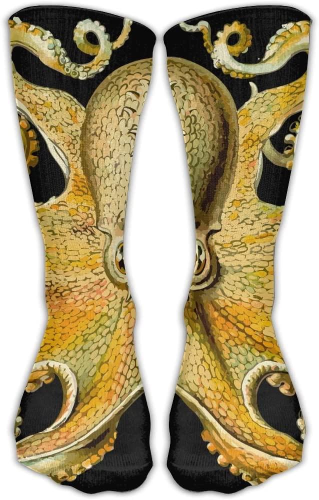 Pin-1 Funny Cute Octopus Athletic Socks Novelty Running Long Sock Cotton Socks