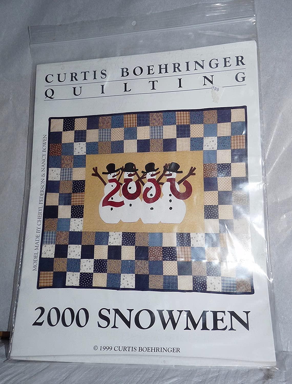 Curtis Boehringer QUILTING 2000 Snowmen Pattern