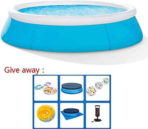 WUAZ Swimming Pool- Easy Set,Elliptic Inflatable Swimming Pool, Refreshing&Transparent Kiddie Pools, Family Swimming Pool, Swim Center for Kids, Adults,3096inch
