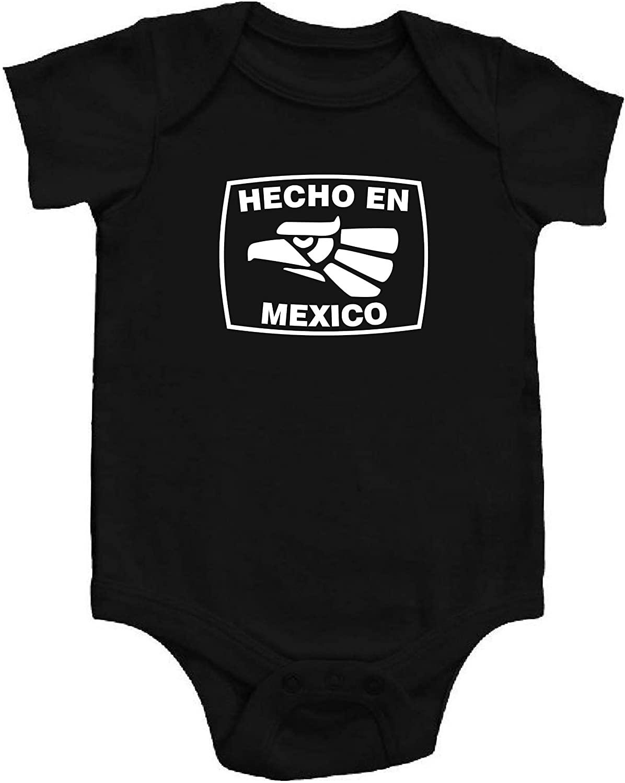 Hecho en Mexico Classic Logo Baby One Piece Creeper Bodysuit BLACK w/WHITE logo