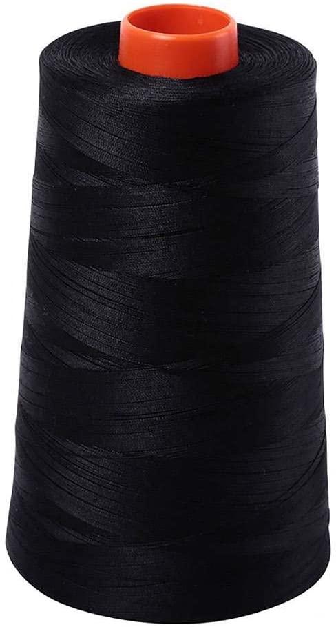 Aurifil 2692 Mako 50 Wt 100% Cotton Thread, 6,452 Yard Cone Black