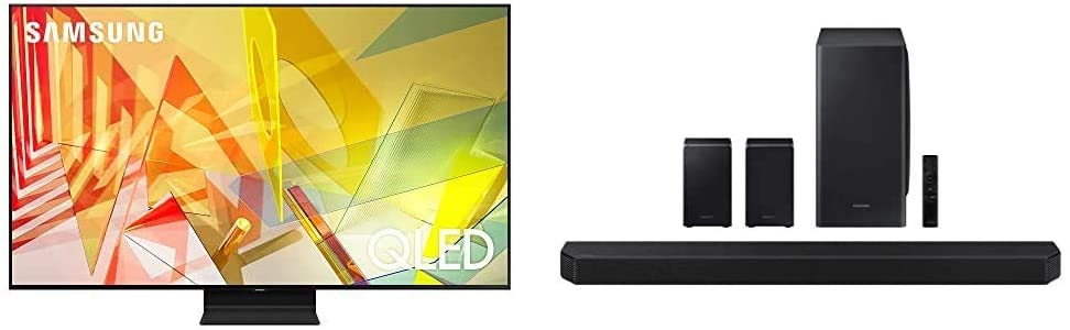 SAMSUNG 55-inch Class QLED Q90T Series (Alexa Built-in) with Samsung HW-Q950T 9.1.4ch Soundbar with Dolby Atmos/DTS:X and Alexa Built-in